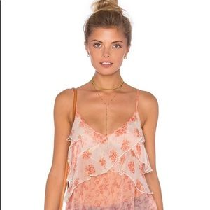 Free People Boho Floral Top Camisole Tank M